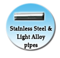 Stainless steel and light alloy pipes
