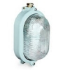 Oval watertight lighting fixtures in brass painted marine grey with glass diffuser, type UNAV 2135 250V - IP66