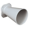 Directional horn for UNAV 1382 sirens in brass painted marine grey